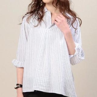 BEAUTY&YOUTHのストライプリネンシャツ