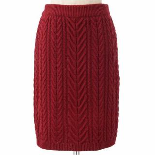 Supreme.La.Laの赤いニットタイトスカート