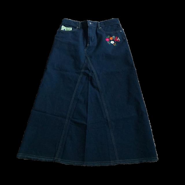チチカカのデニムスカートを使った着回しを募集します。