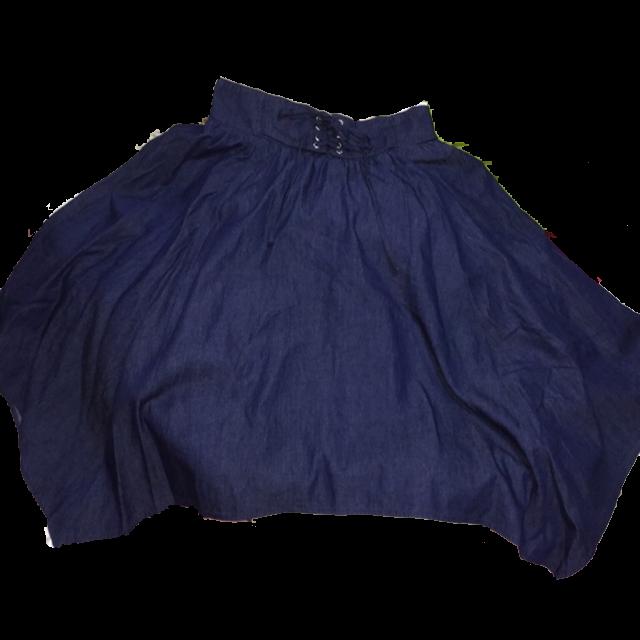 不明のデニムスカートを使った着回しを募集します。