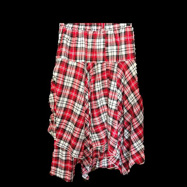 不明のミモレ丈スカートを使った着回しを募集します。