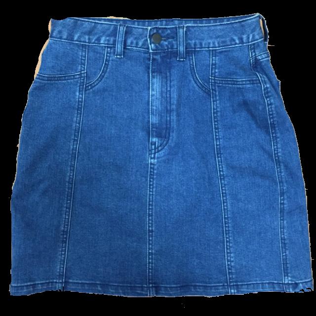 GUのデニムスカートを使った着回しを募集します。