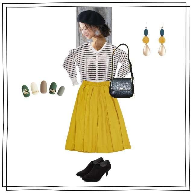 「ガーリー・フェミニン、ランチ、おでかけ」に関するROPE' PICNICのカーディガン、COCAのミモレ丈スカート等を使ったコーデ画像