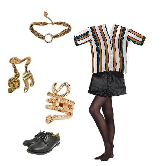 「モード・ハイエンド、パーティー」に関するシャツ/ブラウス、ショートパンツ等を使ったコーデ画像