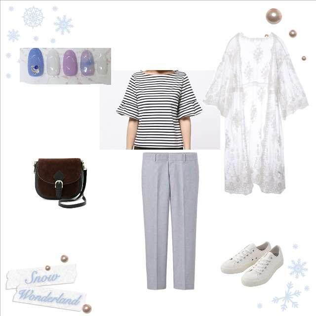 「シンプル、お散歩」に関するarchivesのTシャツ/カットソー、UNIQLOのクロップドパンツ等を使ったコーデ画像