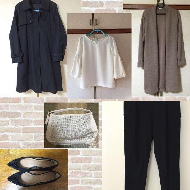 「シンプル、オフィス」に関するTOPVALUのTシャツ/カットソー、カーディガン等を使ったコーデ画像