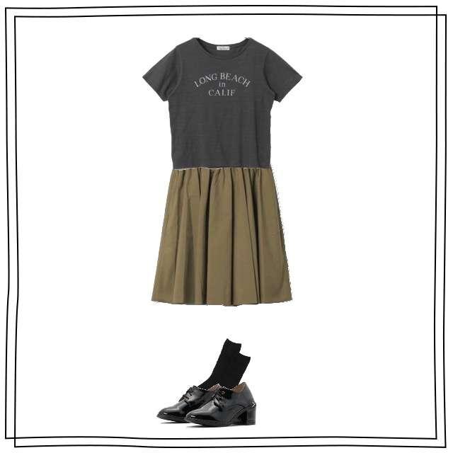 URBAN RESEARCHのTシャツ/カットソー、MACPHEEのスカート等を使ったコーデ画像