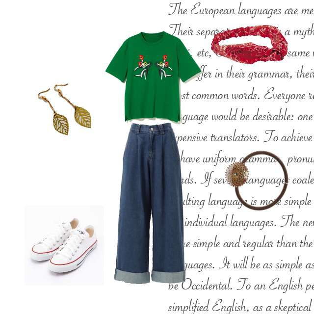 「おでかけ、かわいい、お出かけコーデ」に関するGRLのTシャツ/カットソー、GRLのワイドパンツ等を使ったコーデ画像