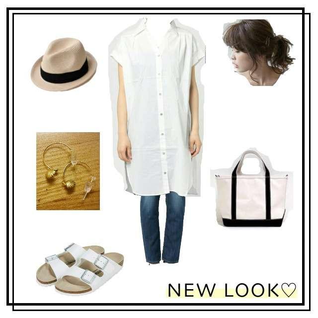 Discoatのシャツ/ブラウス、YANUKのスキニーパンツ等を使ったコーデ画像