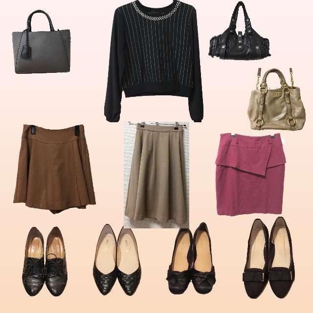 「シンプル、休日、オフィス」に関するINGNIのTシャツ/カットソー、HONEYSのミモレ丈スカート等を使ったコーデ画像