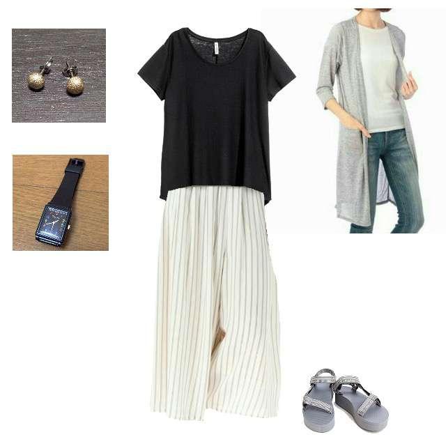 「未着用」に関するSHOO・LA・RUEのカーディガン、H&MのTシャツ/カットソー等を使ったコーデ画像
