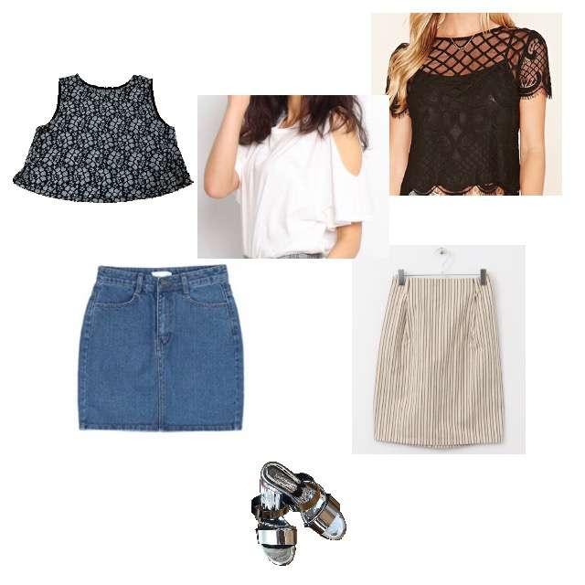 JEANASISのキャミソール/タンクトップ、FOREVER 21のシャツ/ブラウス等を使ったコーデ画像