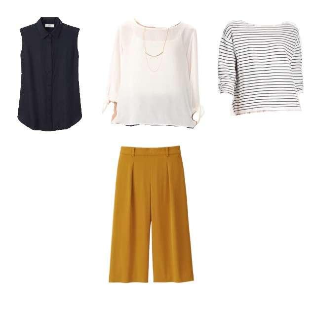 UNIQLOのTシャツ/カットソー、HONEYSのシャツ/ブラウス等を使ったコーデ画像