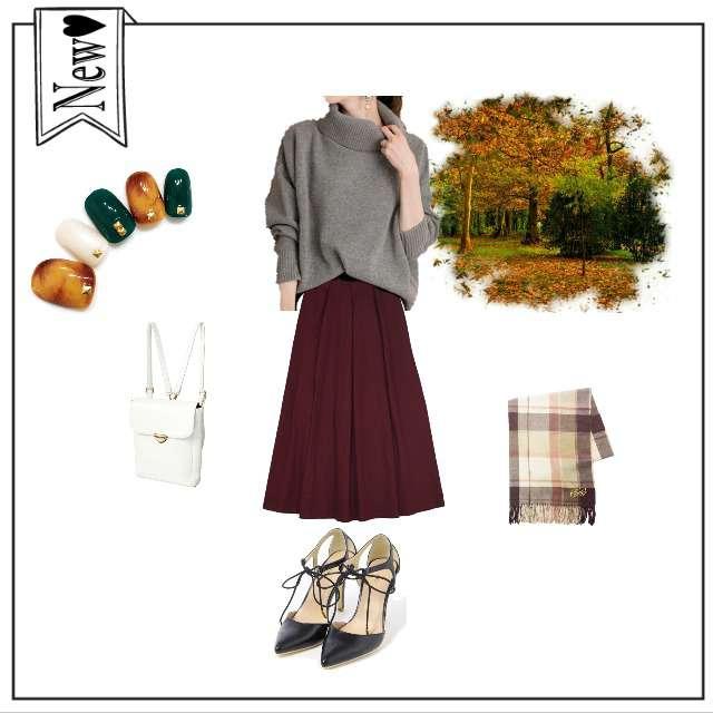 「お散歩、カフェ」に関するmerlotのマキシ丈スカート、VICKYのパンプス等を使ったコーデ画像