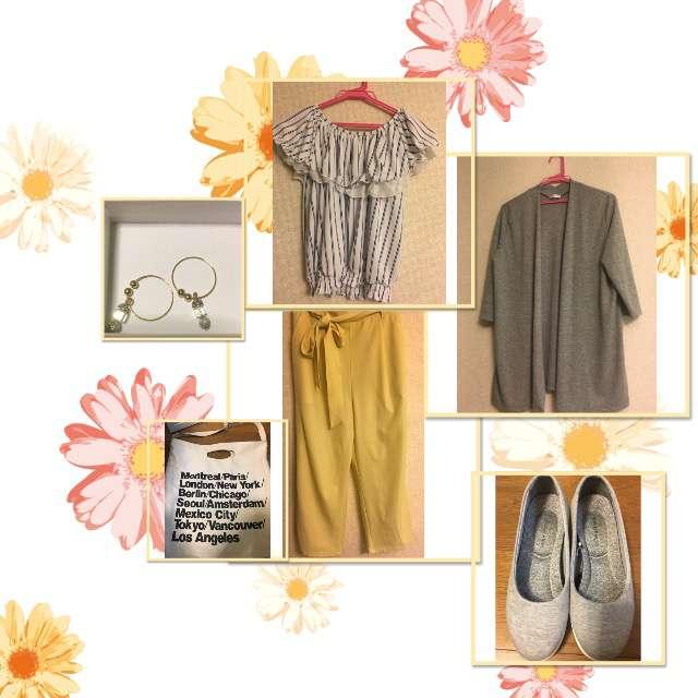 「ナチュラル・リラックス、お散歩」に関するHanys Closetのカーディガン、COLZAのシャツ/ブラウス等を使ったコーデ画像