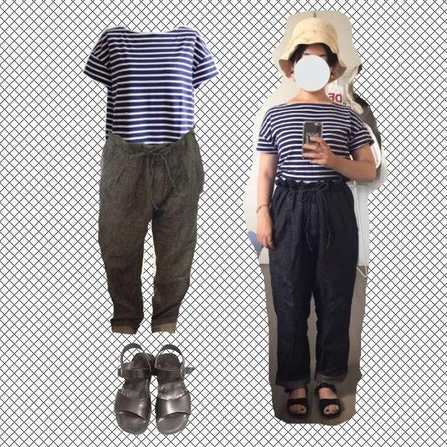 OrcivalのTシャツ/カットソー、nest Robeのデニムパンツ等を使ったコーデ画像