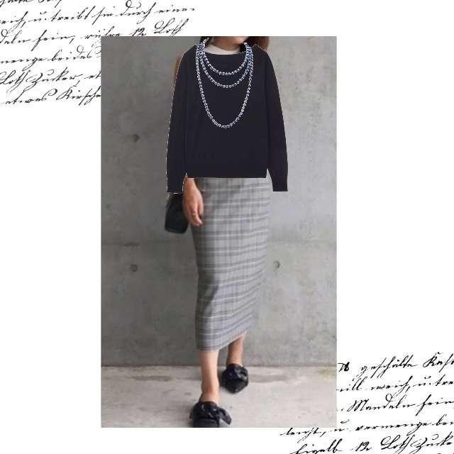 「コンサバ・エレガント、オフィス」に関するUNIQLOのニット/セーター、ZARAのタイトスカート等を使ったコーデ画像