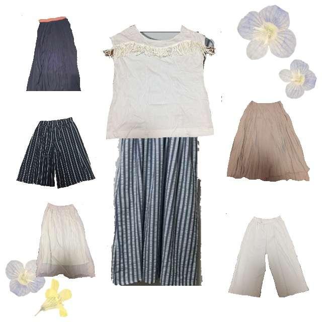 LOWRYS FARMのTシャツ/カットソー、マキシ丈スカート等を使ったコーデ画像