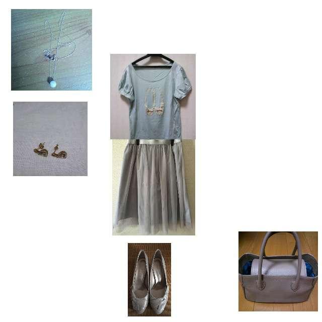 Couture broochのTシャツ/カットソー、any SiSのスカート等を使ったコーデ画像
