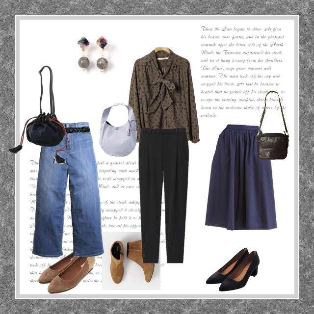 「シンプル、女子会、着回し、ブラウス」に関するKhajuのシャツ/ブラウス、UNIQLOのデニムパンツ等を使ったコーデ画像