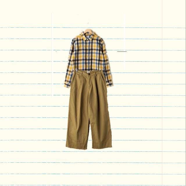「ナチュラル・リラックス、学校」に関するcoenのシャツ/ブラウス、coenのワイドパンツ等を使ったコーデ画像