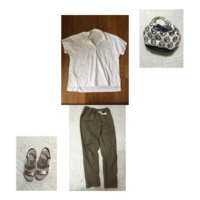 「ナチュラル・リラックス、休日」に関するUNIQLOのシャツ/ブラウス、パンツ等を使ったコーデ画像