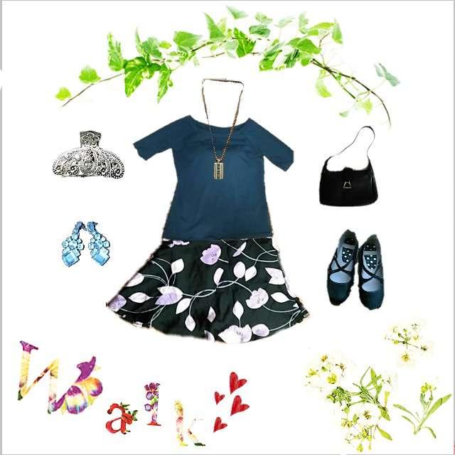 「コンサバ・エレガント、オフィス」に関するUNIQLOのTシャツ/カットソー、NEXTのひざ丈スカート等を使ったコーデ画像