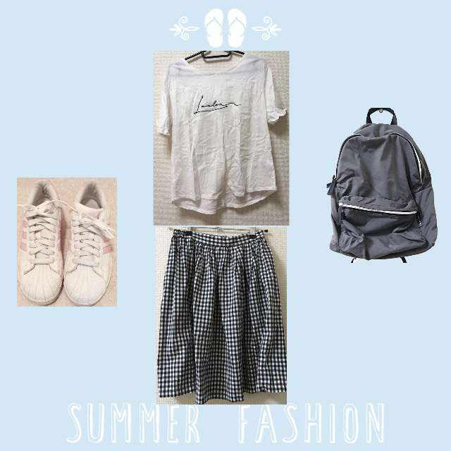 「シンプル、休日、お散歩」に関するDiscoatのTシャツ/カットソー、Ray Cassinのミモレ丈スカート等を使ったコーデ画像