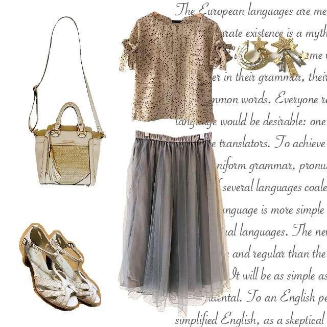 「ガーリー・フェミニン」に関するdoll up oopsのシャツ/ブラウス、Couture broochのミモレ丈スカート等を使ったコーデ画像