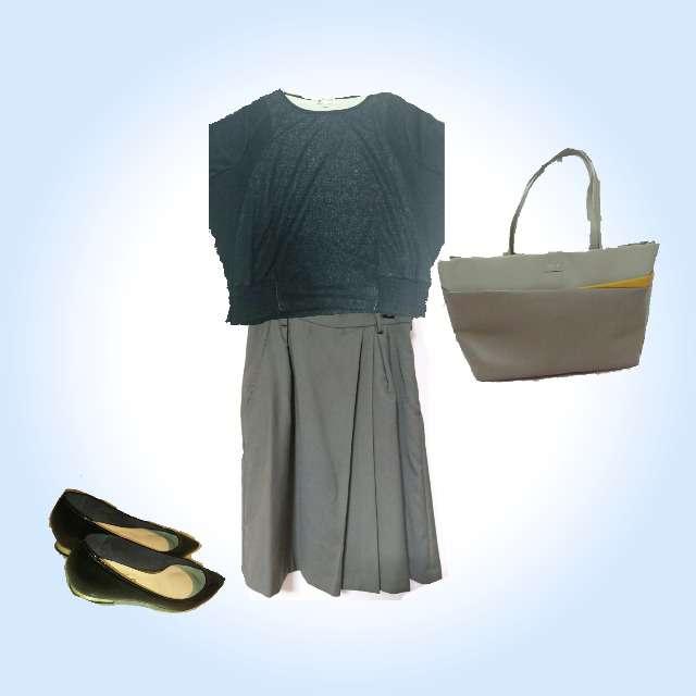 MICHEL KLEINのTシャツ/カットソー、Fabulous Angelaのひざ丈スカート等を使ったコーデ画像