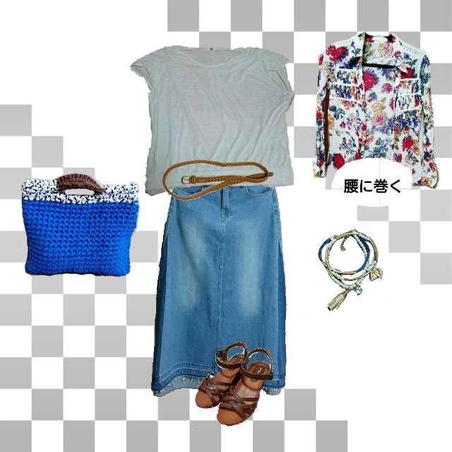 「カジュアル、休日」に関するシャツ/ブラウス、UNIQLOのTシャツ/カットソー等を使ったコーデ画像