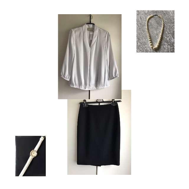 UNITED ARROWSのシャツ/ブラウス、MAX MARAのひざ丈スカート等を使ったコーデ画像