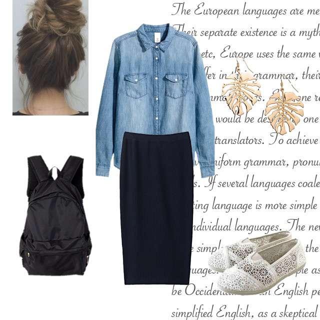 「ナチュラル・リラックス、休日、お散歩、秋」に関するシャツ/ブラウス、GUのタイトスカート等を使ったコーデ画像