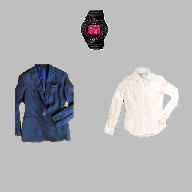 THE SUIT COMPANYのシャツ/ブラウス、Crystal Sylphのスーツ等を使ったコーデ画像