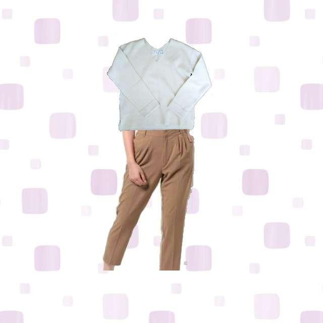 「冬」に関するROPE' PICNICのTシャツ/カットソー、テーパードパンツ等を使ったコーデ画像