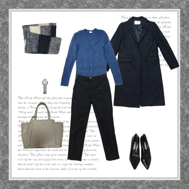 「シンプル、オフィス」に関するニット/セーター、NOLLEY'Sのクロップドパンツ等を使ったコーデ画像