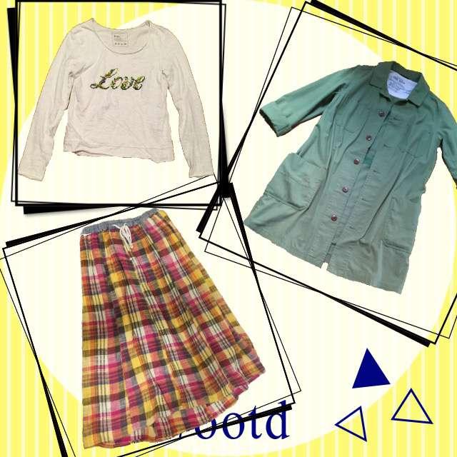 「古着MIX・ヴィンテージ、学校、マキシスカート」に関するcactus..cepo.のTシャツ/カットソー、CUBE SUGARのマキシ丈スカート等を使ったコーデ画像