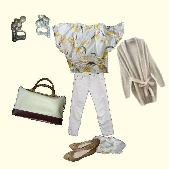 「カジュアル、オフィス」に関するUNITED ARROWS green label relaxingのカーディガン、ZARAのTシャツ/カットソー等を使ったコーデ画像