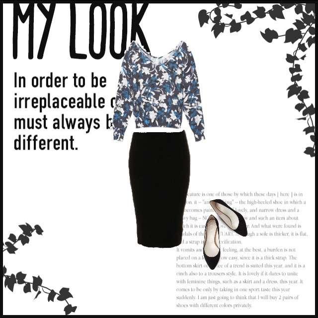 FRAY I.Dのプルオーバー、FRAY I.Dのタイトスカート等を使ったコーデ画像