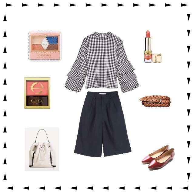 「シンプル、オフィス」に関するZARAのシャツ/ブラウス、titivateのガウチョパンツ等を使ったコーデ画像