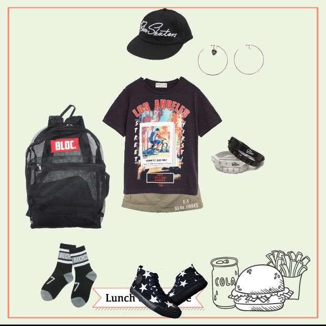 ZARAのTシャツ/カットソー、BLOCのミニスカート等を使ったコーデ画像