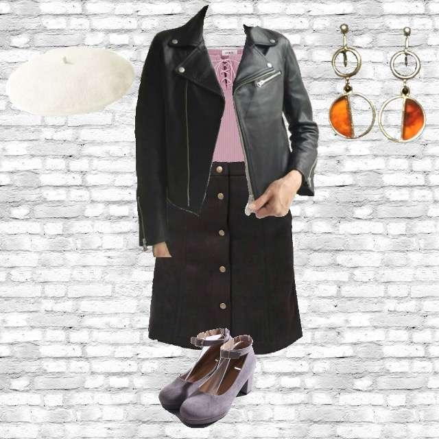 「カジュアル、ドライブ、かっこいい」に関するEVRISのTシャツ/カットソー、WEGOのひざ丈スカート等を使ったコーデ画像