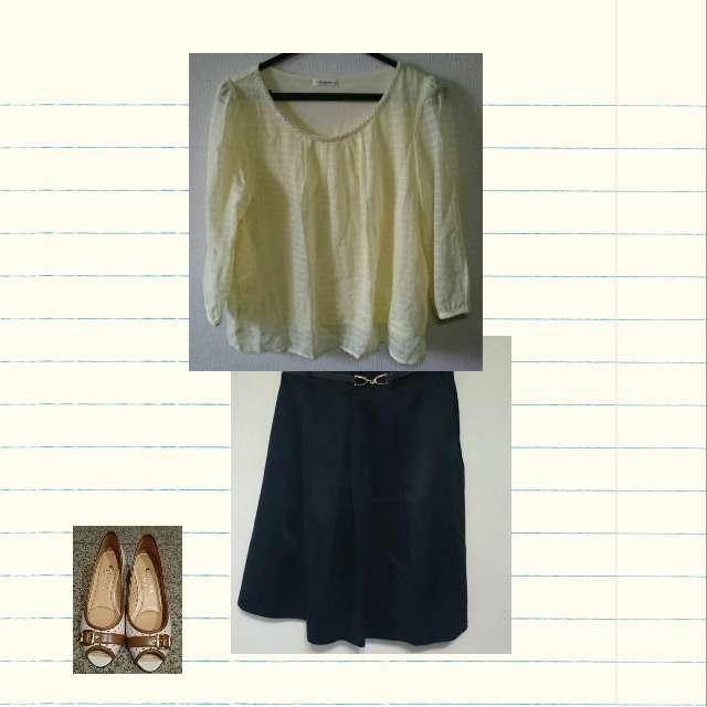 「春、夏、秋」に関するHONEYSのシャツ/ブラウス、SOUPのひざ丈スカート等を使ったコーデ画像