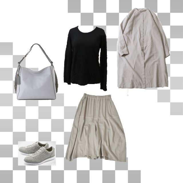 「シンプル、休日、ワントーンコーデ」に関するevam evaのシャツ/ブラウス、FACTORYのTシャツ/カットソー等を使ったコーデ画像