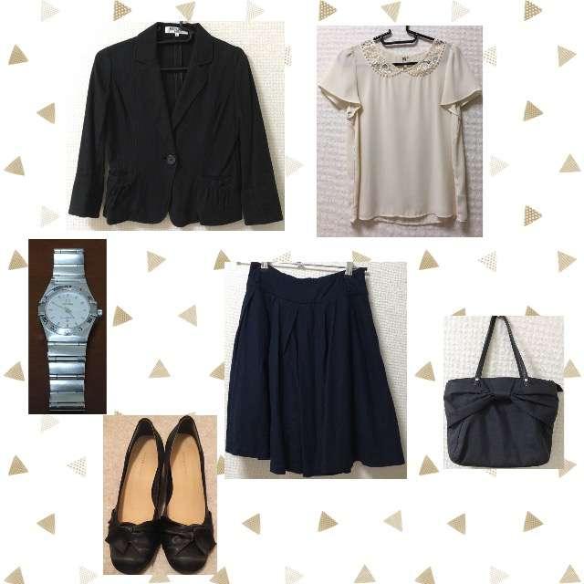 「シンプル、オフィス」に関するROPE' PICNICのTシャツ/カットソー、Ray Cassinのひざ丈スカート等を使ったコーデ画像