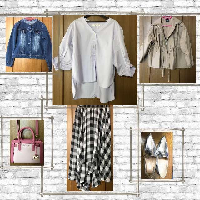 「綺麗めカジュアル、おでかけ」に関するVingt Neuf 29のシャツ/ブラウス、JEANASISのフレアスカート等を使ったコーデ画像
