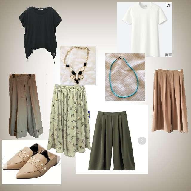 「ファッション苦手、組み合わせわからない」に関するUNIQLOのTシャツ/カットソー、RNAのTシャツ/カットソー等を使ったコーデ画像