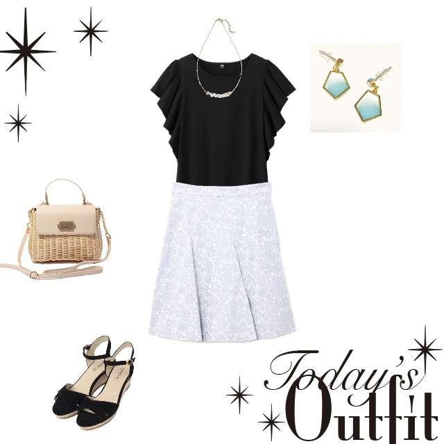 UNIQLOのシャツ/ブラウス、PROPORTION BODY DRESSINGのフレアスカート等を使ったコーデ画像