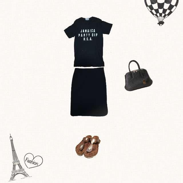journal standard L'essageのTシャツ/カットソー、Deuxieme  Classeのひざ丈スカート等を使ったコーデ画像