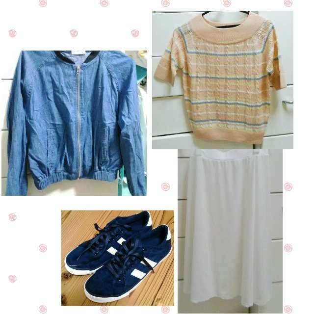 RETRO GALLERYのニット/セーター、Kareiのミモレ丈スカート等を使ったコーデ画像